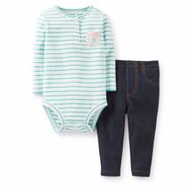 Clippate Conjunto Carters Niña Importado Body Jeans