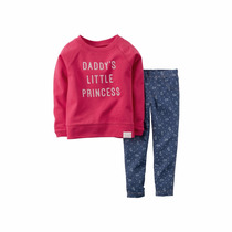 Carters Set Buzo Manga Larga Y Leggins / Calzas 6m