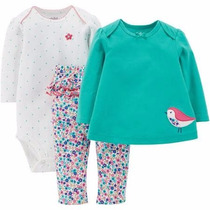 Conjunto Remera Leggins Body 3 Piezas Nena By Carters Usa