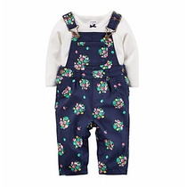 Carters Set Jardinerito Y Body Manga Larga