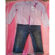 Jean Y Saquito Baby Gap - 18 A 24 Meses - Importado - Nuevo