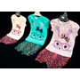 Conjunto Beba Remera Estampa Brillo + Bombachon Animal Print