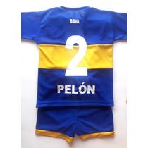 Camiseta Boca Con Nombre Y Numero + Short - Conjunto Remera