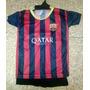 Bebes Camiseta Futbol Barcelona Conjunto - Local O Envio!!!