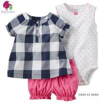 Set Carters Vestido/cardigan O Short/body/blusa Envio Grati