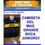 Camiseta De Bebe Boca Juniors Mas Short Conjunto Completo
