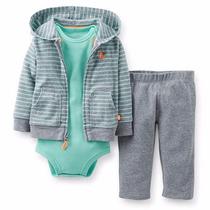 Buzo + Body +pantalon Carters Bebes Nenes Conjunto X 3 !!