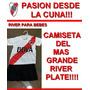 Conjunto River Plate Bebe Camiseta Titular Y Short Negro