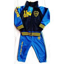 Conjunto Campera Pantalon Bebe Boca River Independ Racing Sl