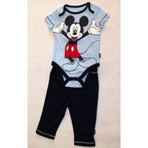 Disney Mickey Set 2 Piezas - Body + Pantalon *envio Gratis*