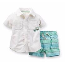 Set Conjunto 2piezas Carters Camisa Short ***envio Gratis***