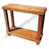 Consola De Pinotea Doble Plano Reforzada Textura Increible!