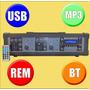 Amplificador De 4 Canales Usb Mp3 Bluetooh Y Ecco Nuevo