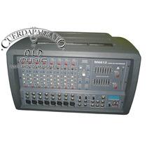 Mixer Consola Moon Potenciada 12 Canales 200w+200w 8 Ohms
