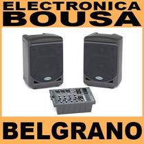 Samson Xp150 Sistema Portátil Consola + Bafles 150w Estéreo