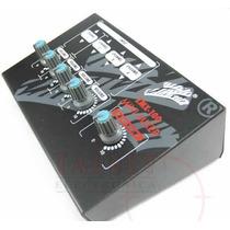 Mezclador De 4 Microfonos 9v C/control Volumen Individual