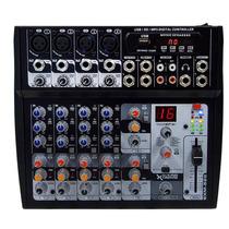 Mezclador De Audio De 8 Ch Usb Mp3 Entradas Mic Y Aux Xlr