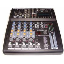 Consola Mixer Moon Mc 602 6 Canales Usb-sd Audiomasmusica