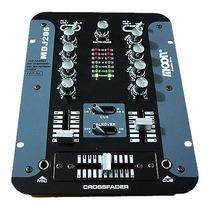 Mixer Consola Mezclador Dj Moon Mdj206 2 Canales 7 Entradas