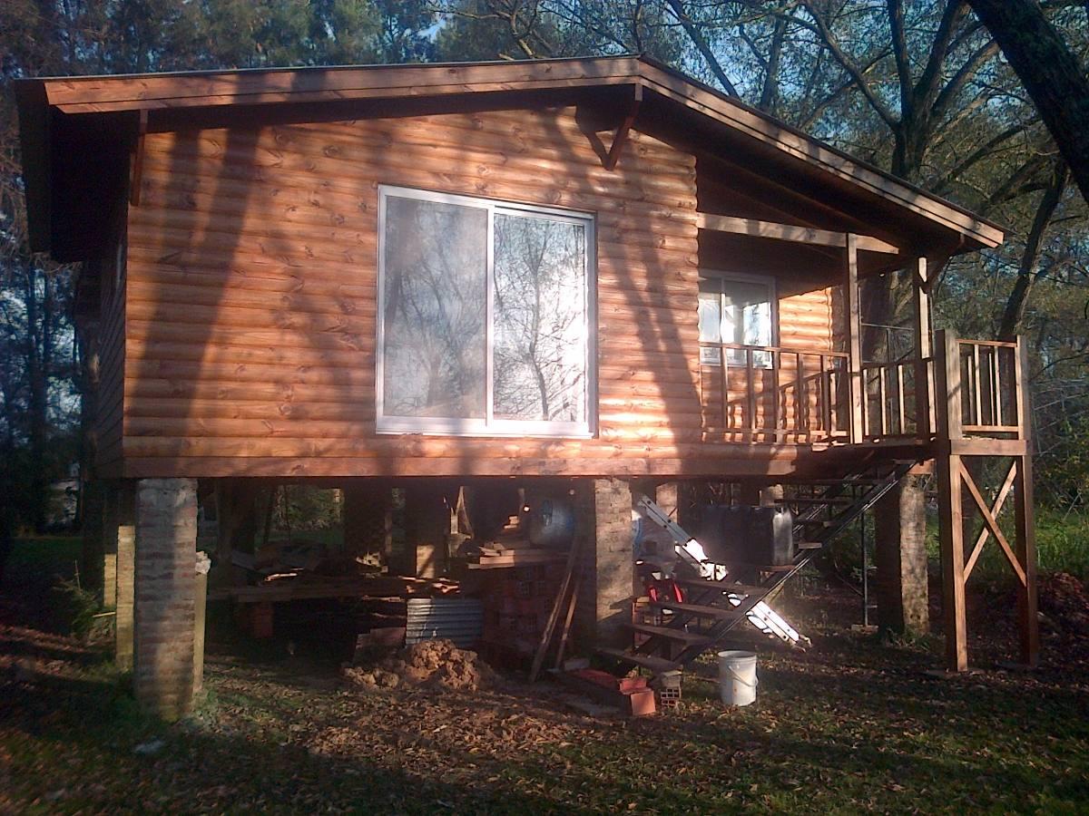 Construcci n caba as casas de madera deck muelles - Construccion de cabanas de madera ...