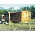 Vagon De Madera Cabañas Tren Y Galpon Construccion