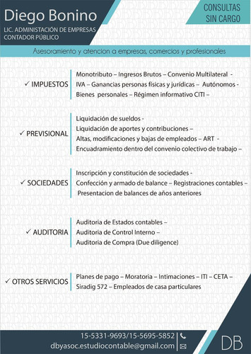 Contador Publico / Lic. En Administracion De Empresas