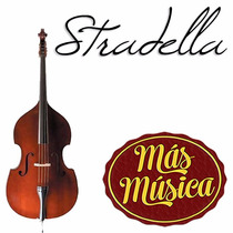 Stradella Mb6076 Contrabajo 3/4 Prof.-macizo-pino Selec.