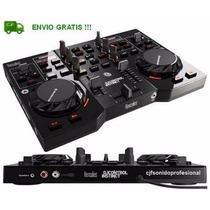 Consola Hercules Dj Instinct + Placa Sonido + Envio Gratis