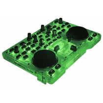 Consola Hercules Dj Glow Green Dj Control Mixer Mezcladora