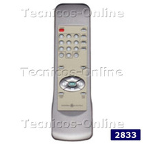 2833 Control Remoto Tv General Electric Sharp Telefunken