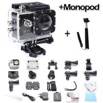 Camara Go Pro Sumergible 30mts Hd 1080+sd32gb+monopod
