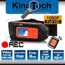 Cámara Full Hd 1080p Dvr Deportiva Deportes Extremos Casco