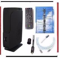Kit Completo Tv Digital Tda Antena Panel Decodificador Gtia