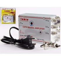 Amplificador De Señal 3 Salidas Antena Cable Tv Vhf Uhf 30db
