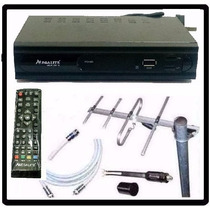 Kit Completo Tv Digital Tda Antena Ext Decodificador Nvos