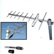 Antena Tv Digital Hd Publica Tda + 20 Mt Cable Rg6 C/conec.