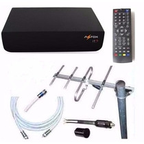Kit Completo Tv Digital Tda Antena Ext Decodificador Cables