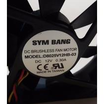 Cooler Fan Ventilador 80x80x25mm 12volt 3300 Rpm Rulemanes