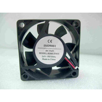 Turbina Cooler Fan Ventilador 60x60mm 24vcc 4000 Rpm A Bujes