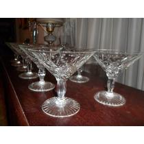 326- Excelente Juego De Copas De Champagne O Martini Calidad