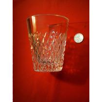 Espectacular Hielera De Cristal Vaso Facetado Tallado Whisky