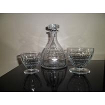 Juego De Copas Cristal Baccarat Sellados Diseño Art Deco