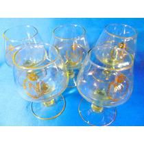 El Arcon Juego De 5 Copas De Cognac Napoleon De Cristal 924