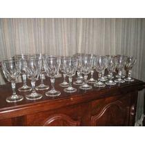 1103- Juego De Copas Talladas 18 Piezas Agua Vino