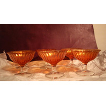 Juego De Compoteras Carnival Glass (150669)