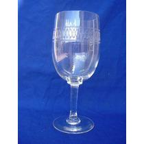 1829 B-hermosas Copas Para Vino O Agua Grabadas Al Acido