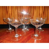 5 Antiguas Copas De Sidra O Champagne Talladas (ángela)