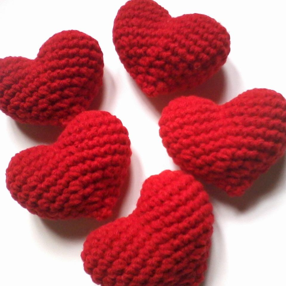Corazones Tejidos A Crochet. Para Artesanías, Souvenirs. - $ 200 ...
