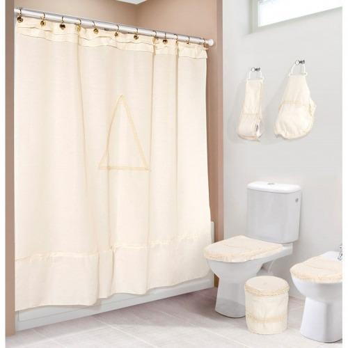 Cortinas de ba o bordadas a maquina for Accesorios para cortinas de bano