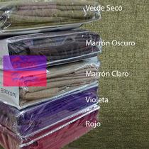 Cortinas Blackout Textil Rustica 2 Paños 1.4x2.2 Barral/riel